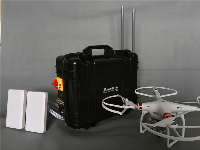 brouilleur onde radio , Brouilleur GPS Drone telephone vidéo militaire haute puissance 2.4G 5.8G
