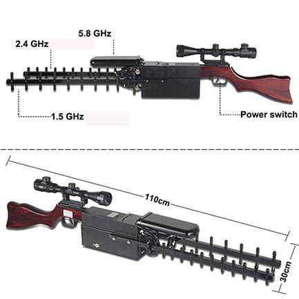 brouilleur portable 4g , Portable en forme de pistolet Brouilleur de drone gps 2.4G 5.8G