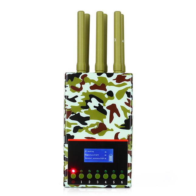 brouilleur portique securité , Camouflage brouilleur Avec affichage de signal 3G 4Glte Portable haute puissance